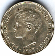 "Alfonso XIII 1899 SGV 5 Ptas"" Tupe "" @ E.B.C. @"