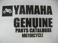 YAMAHA GENUINE PARTS FICHE MANUAL 1980 XJ650 MAXIM XJ