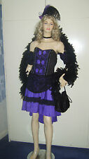 Donna Ragazza Saloon Can Can Burlesque Western Viola Costume 12-14