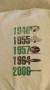 VTG Mercury Marine 1946-2006 Logo 60 Year History Sweatshirt Kiekaefer
