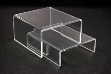 """6sets= 12pc of Clear Acrylic Riser Stand counter display Jewelry Gift 4""""L x 4""""W"""