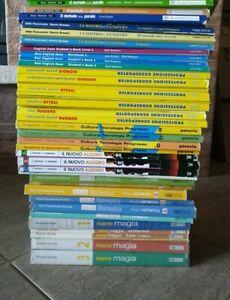LOTTO stock libri testo SCUOLA MEDIA Geografia Scienze Matematica Lettere musica