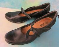 NAOT Pleasure Mary Jane Wms US 9 EU 40 Black Leather Heeled Comfort Shoes