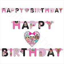 LOL Surprise Party HAPPY BIRTHDAY Banner Bunting Girls Birthday Decoration 5.5ft
