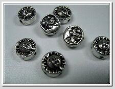 20 kleine Metallperlen Sonne Mond & Sterne Perlen antik silber