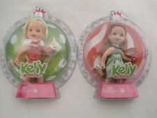 New Set Of 2 Happy Holiday Ornament Kelly Sister Of Barbie Doll (Hkw7-430)