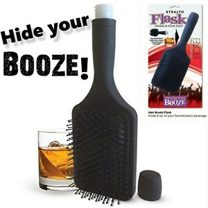 Smuggle Your Booze Hairbrush Flask 6oz Stealth Hiding Whiskey Alcohol Beverage