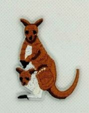 Kangaroo australia baby roo boomer marsupial animal applique iron-on patch 364
