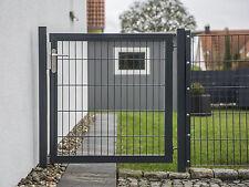 Solid Drehflügeltor Gartentor Tor H=1200 B=1250 Anthrazit Zaun Doppelstab