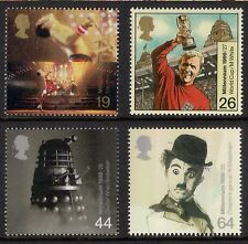 GB 1999 sg2092-95 Entertainers' Tale set MNH Dalek Dr Who Queen Music Football