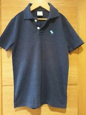 Abercrombie & Fitch Kids Boys Icon Stretch Polo Blue Size XS Age 8
