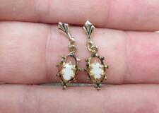 .40ctw Opal / Gold Plated Sterling Silver Dangle Earrings ~ 1.2grams ~ 14-I4897