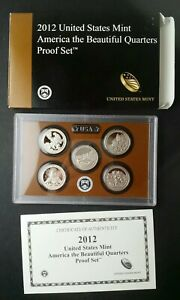 2012 United States Mint America the Beautiful Quarters Proof Set