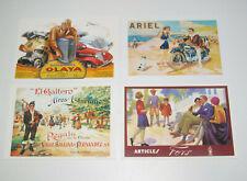 Lot de 4 Carte Postale Reproduction Affiche Publicitaire Ancienne Pub