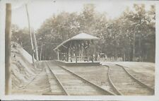 North Elec [Electric] Station Lake Winola PA RPPC Real Photo vintage unused
