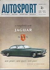 AUTOSPORT OTTOBRE 20th 1961 * USA GRAND PRIX & Earls Court MOTOR SHOW *