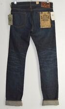 RRL Ralph Lauren Denim con orillo índigo American Tejido Vaqueros Slim Fit 30 X 34