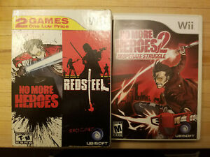 No More Heroes and RedSteel Nintendo Wii Bundle 2 Pack, NMH 2 Desperate Struggle