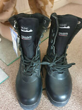 mens tracpac black leather desert combat patrol boots, size 9,new with tags.