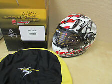 SCORPION HELMET MOTORCYCLE  EXO-500  OIL  RED+BLACK  EXTRA SMALL - XS