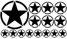 18x us army étoile retro sticker auto car autocollant rat armée star Old school