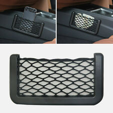 Black Car Auto String Mesh Bag Storage Pouch For Cellphone Gadget Cigarette New