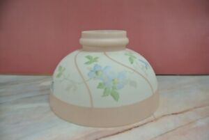 Vintage Glass Hand Painted Pink and White Replacement Lamp Shade