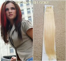 "Hair extensions weave weft human remy hair AAA16""18"" #22 Lt Beige blonde uk"