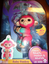 Fingerlings Interactive Baby Monkey Melon Finger Toy Pink/Teal