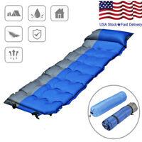 Waterproof Self-Inflating Dampproof Sleeping Pad Tent Mat Outdoor Air RI