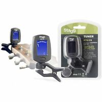 Stagg Automatic Clip On Tuner LCD Display with Built-in Vibration Sensor CTU-C5
