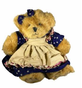 Amelia Bear by Russ with Patriotic Dress & Bow. 1983 Plush Bear Stuffed Animal