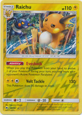 x1 Raichu - 41/147 - Holo Rare - Reverse Holo Pokemon SM3 Burning Shadows M/NM