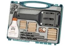 Wolfcraft Dübelset im Aufbewahrungskoffer, 78-tlg. für Holz-Dübel-Verbindungen