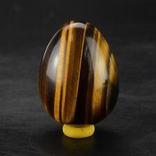 Undrilled 45x35mm Natural Tiger Eye Eggs Gemstone Sphere Yoni egg Kegel exercise