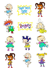 Rugrats Edible Image Toppers. Edible Round Pre Cut Stickers. Edible Prints.