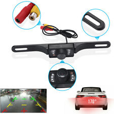 HD License Plate Car Rear View Backup Camera Parking Reverse 7 LED Night Vision