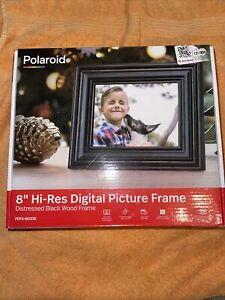 "8"" Digital Photo Frame Distressed Black - Polaroid"