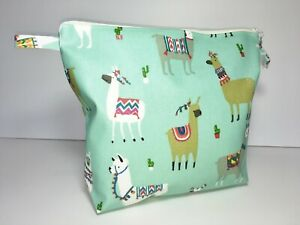 UK Hand Made Fully Lined Animal Theme Oilcloth Wash-bags, Portrait or Landscape