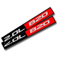 2X BLACK/RED METAL 2.0L B20 ENGINE RACE MOTOR SWAP BADGE FOR TRUNK HOOD DOOR