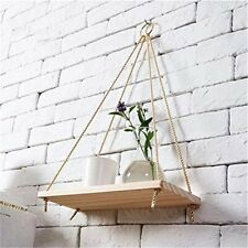 Brand New * Premium Wood Swing Hanging Rope Wall Mounted Floating Shelves