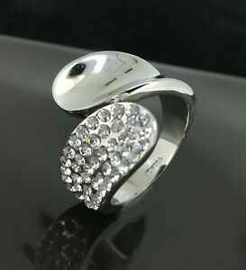 18k 18CT White Gold Filled GF Crystal Ring CZ Woman Man Ring Size7/8/9 R-A492