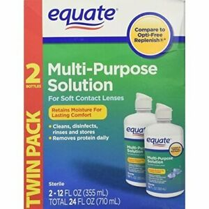 Equate Multi-Purpose Solution Twin Pack 2-12 oz (355 ml)