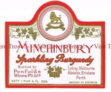 Unused 1940s AUSTRALIA Sydney Penfolds Minchinbury Sparkling Burgundy Label