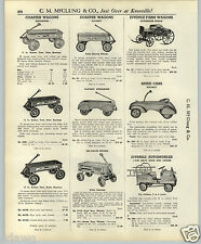 1937 PAPER AD Playboy Coaster Wagon Speed Car Irish Mail Steelcraft Scooter