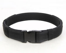 Black Heavy Duty Tactical Buckle Nylon Belt Hunting Army Police Security Load