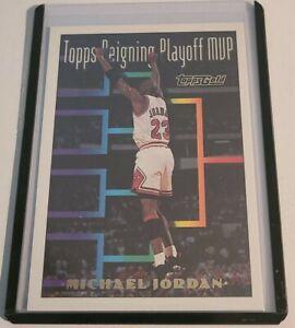 1994 Topps Gold Parallel Michael Jordan Topps Reigning Playoff MVP Chicago Bulls
