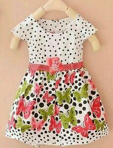 baby girls summer dress 6-9-12-24 months single flower BUTTERFLY dress Ukseller