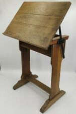 Vintage Drafting Draughtsman Architects Artist Drawing Board Wooden & Iron Table