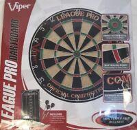 Viper LEAGUE PRO Tournament Quality Dartboard Set Steel Tip Darts & Scoreboard